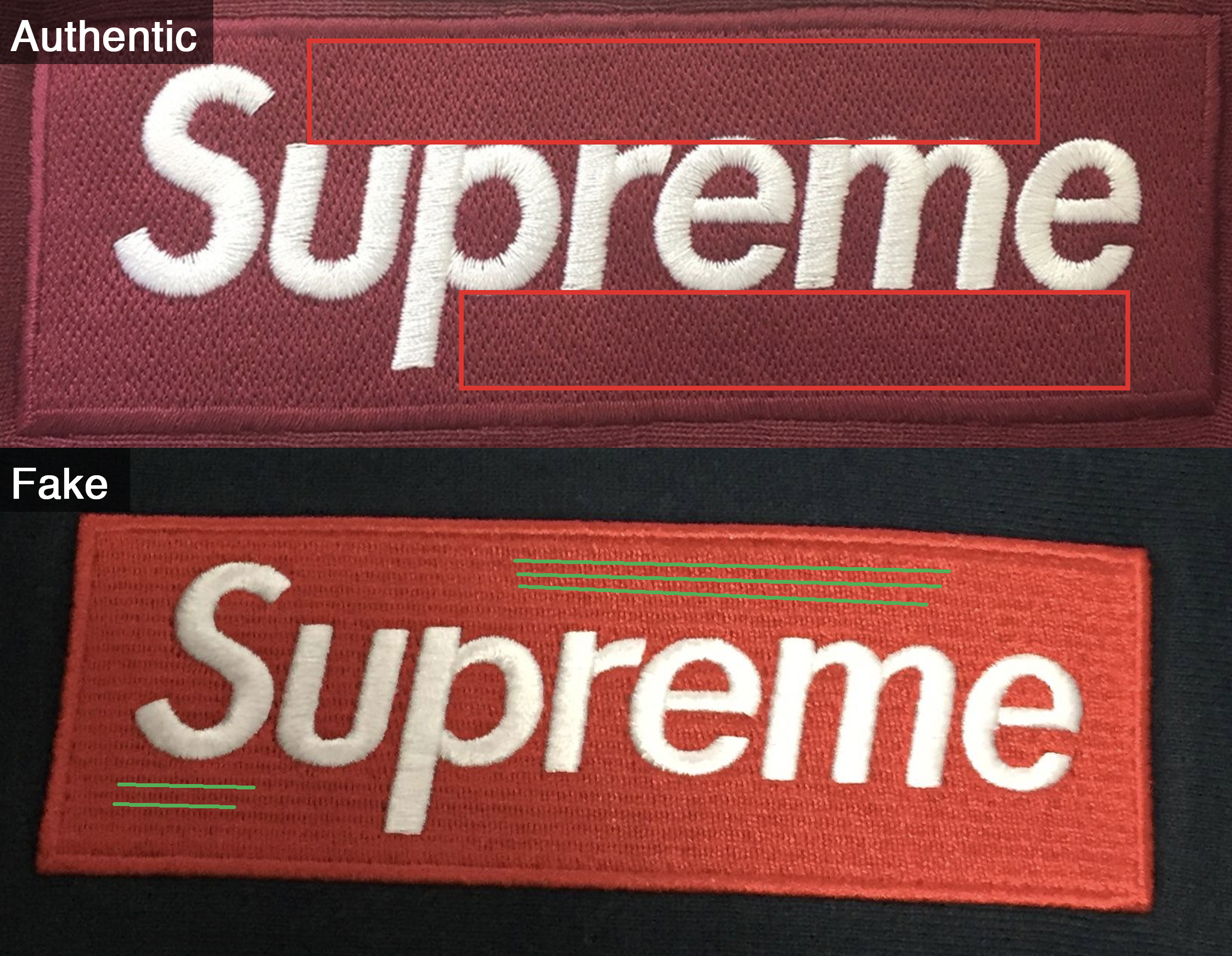 Stitching on the box logo (not the letters 0f6b822b73a6