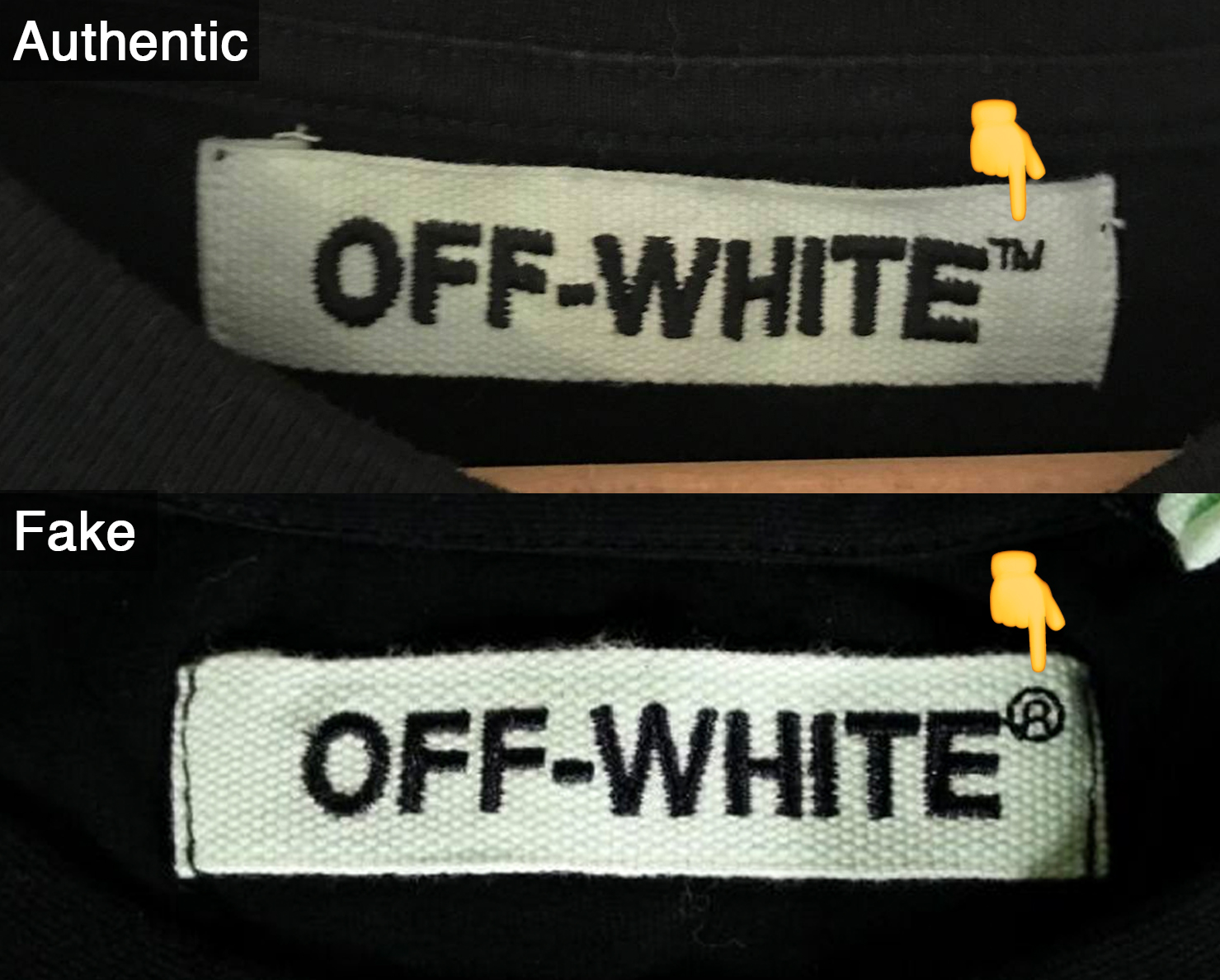 The flaw here is that Off-White is always accompanied by ™ and never  Registered Trademark (®) 058485cf06fde
