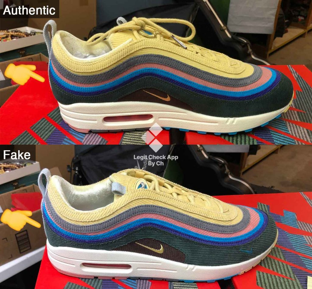 Nike Air Max 1/97 Sean Wotherspoon Heel Bump Shape