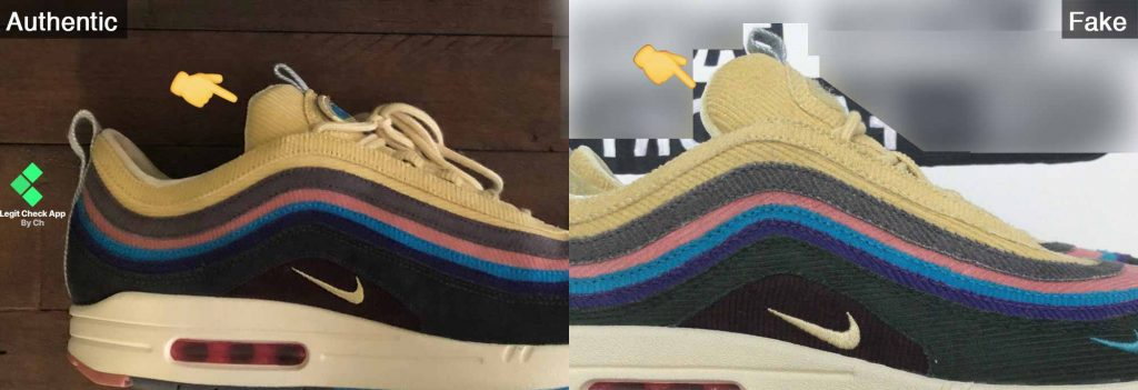 Nike SW 1/97 Tongue legit vs fake