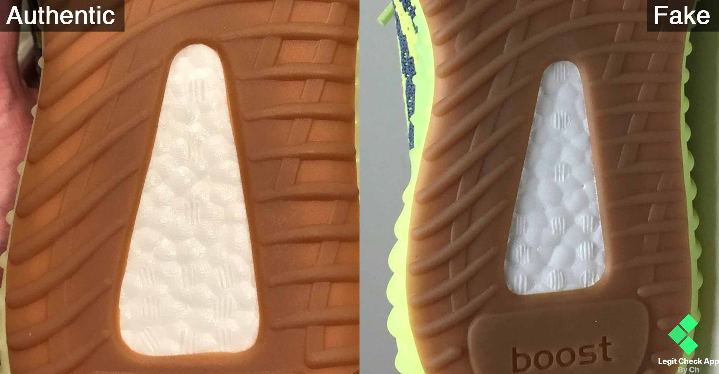 a511f13f805 Fake Vs Real Yeezy Boost 350 V2 Frozen Yellow Boost Sole - Legit Check