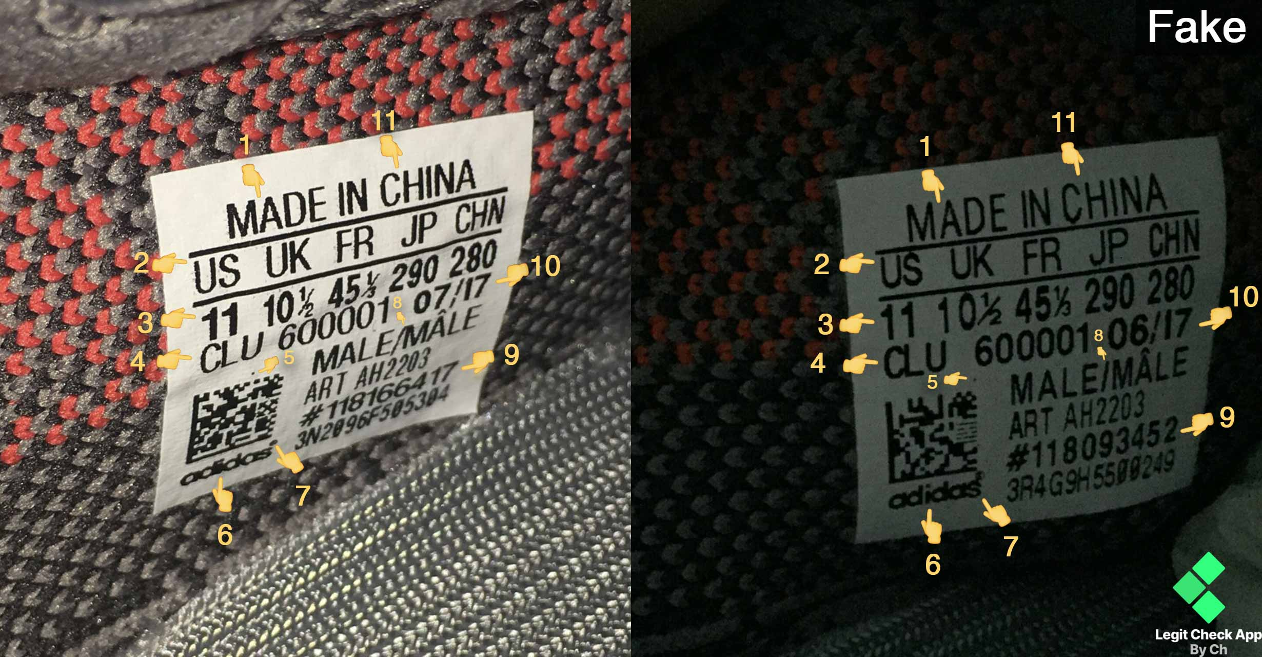 465443e6 Yeezy Boost 350v2 Size Tag. Short version (TLDR): look at 2, 3, ...