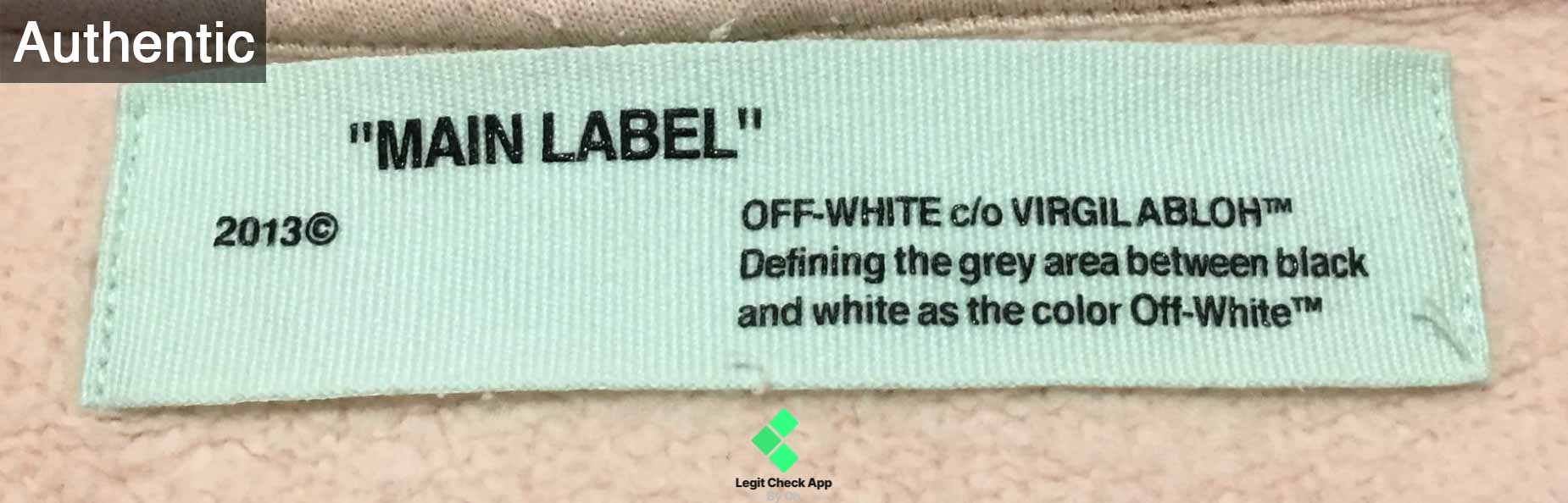 4994bec2 FW16 specifically had a mix of these green Off White labels and some of the  ...