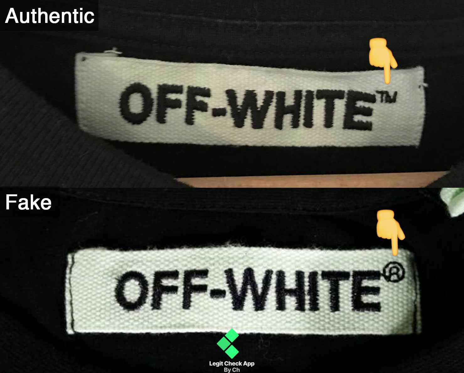 """4eefbdbc One thing to remember is that the """"Off-White"""" text is always accompanied by  the ™ """"Trademark"""" symbol, and never the Registered symbol (®)."""