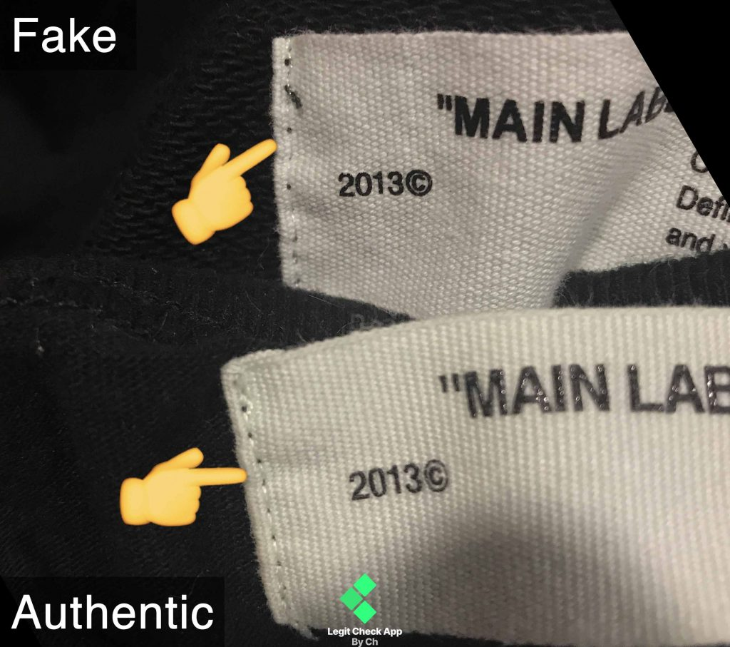 17b2a113 ... Off White neck tag — notice the difference.