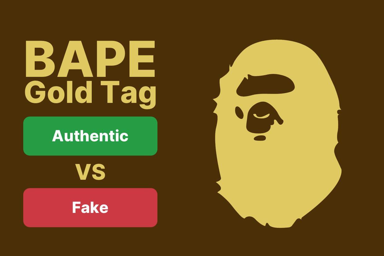 Bape Gold Tag Real Vs Fake Comparison Guide - Legit Check App