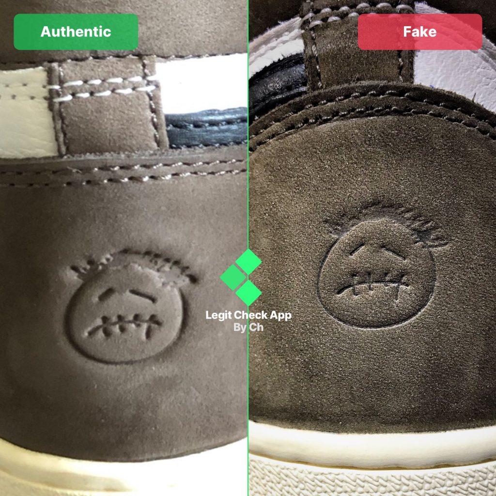 80b61825 REAL vs FAKE Guide to spot fakes using Air Jordan 11 Source · Travis Scott  Jordan real vs fake